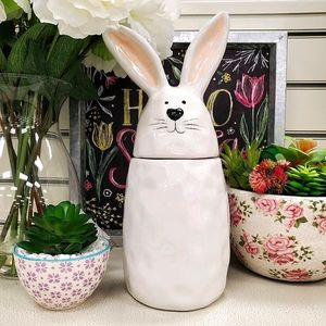 """10 Strawberry Street 11"""" Bunny Cannister"""